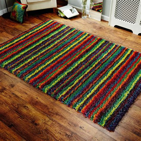 Festival Shaggy Multi Coloured Rugs 1921x Free Uk Rug Sale Uk