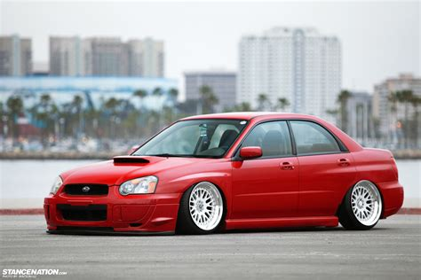 red subaru forester slammed simplicity is beauty tucker s subaru wrx