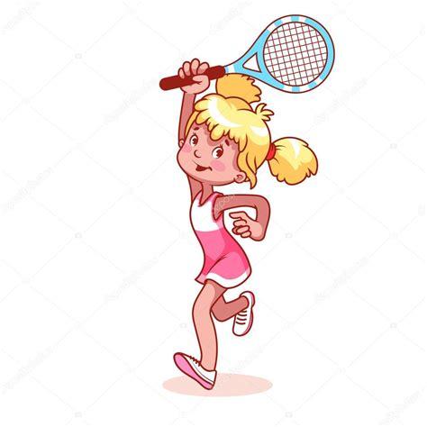 dibujos de niños jugando tenis chica de dibujos animados jugando tenis archivo im 225 genes