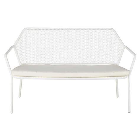 divanetto da giardino divanetto da giardino 2 3 posti in metallo bianco e