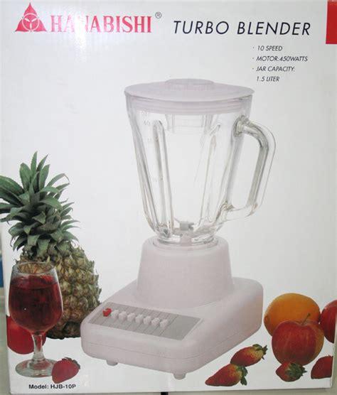 Blender Electrolux Cruzo hanabishi 10 speed blender cebu appliance center