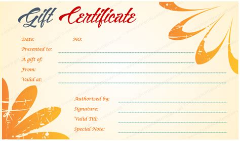 hawaiian design gift certificate template