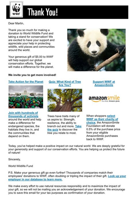 wwf charity letter wwf charity letter 28 images sofii 183 wwf year of the