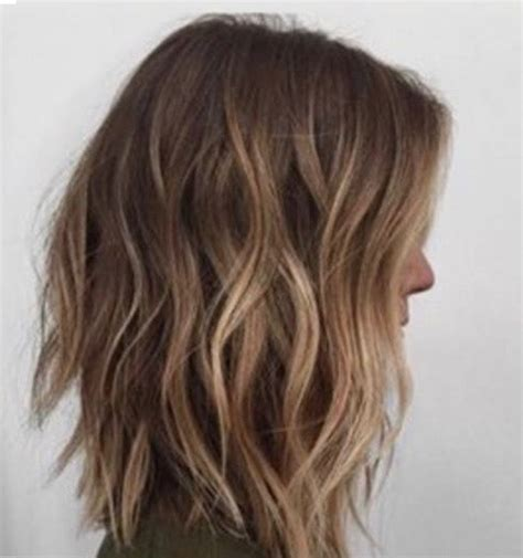 hilite placement on bob haircut shoulder length layered lob side hair pinterest