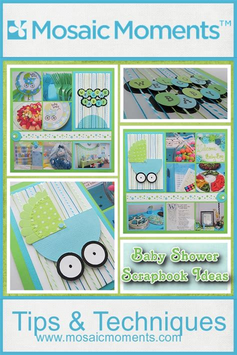 Baby Shower Titles by Baby Shower Scrapbook Ideas Mosaic Moments Photo Collage