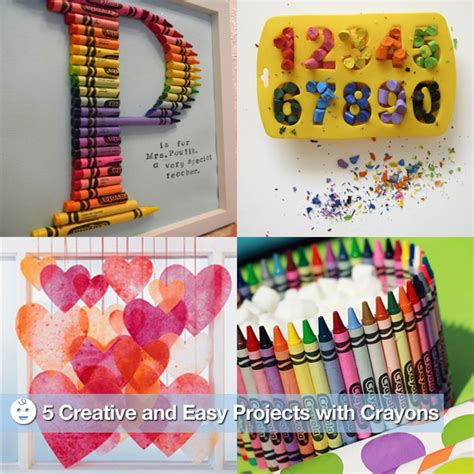 creative and craft for creative and easy crafts with crayons popsugar