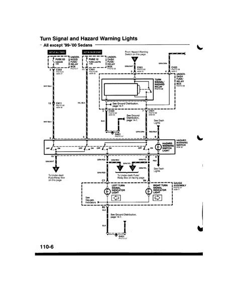 turn signal wiring diagram needed at 99 civic with
