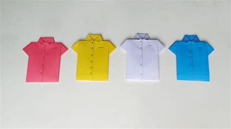 How To Make Origami Shirt - origami shirt how to make easy paper shirt card diy