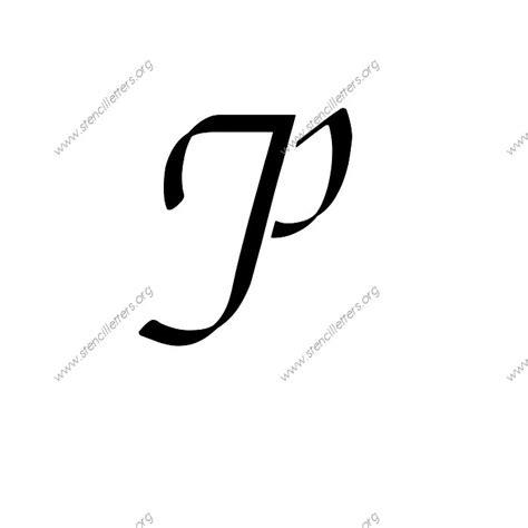 stylish pics of letter p stylish cursive uppercase lowercase letter stencils a z