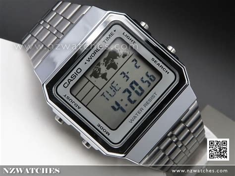 Casio A500wa 1df Stainless Steel World Time 100 New Original buy casio world time alarms digital a500wa 7df buy watches casio nz watches