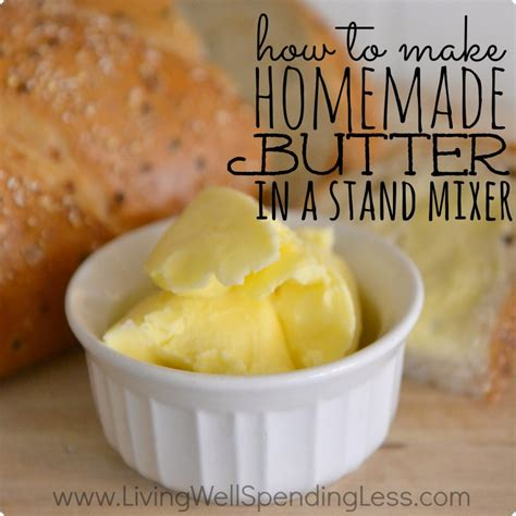 Handmade Butter - how to make butter recipe dishmaps