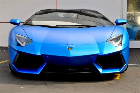car lamborghini blue lamborghini aventador roadster matte blue car