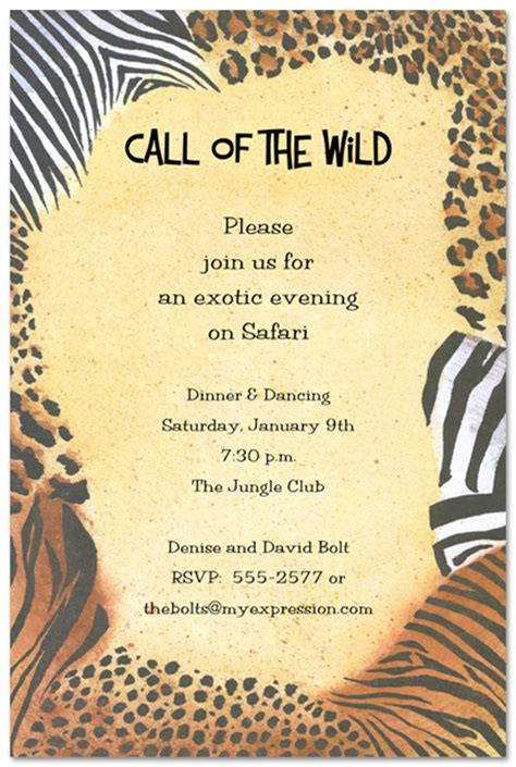 5 best images of animal print birthday invitations