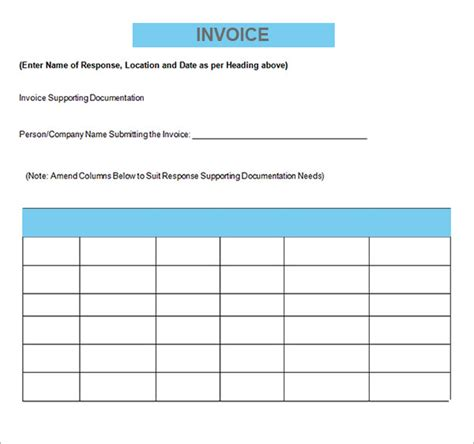 invoice template for contractor sle contractor invoice templates 14 free documents