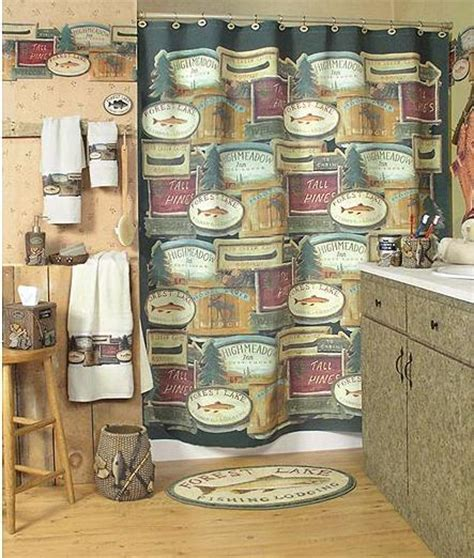 fishing bathroom accessories fishing cabin lodge decor bathroom accessories product gallery wallpaper murals