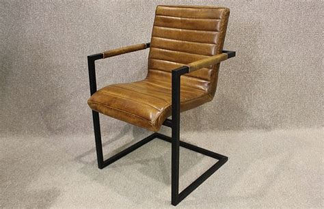 industrial armchair tan leather armchair with steel frame a wonderful leather