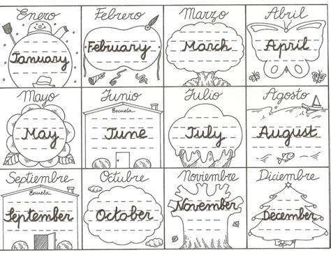 en el ano de los meses worksheet activipeques meses del a 241 o en ingl 233 s days of the week