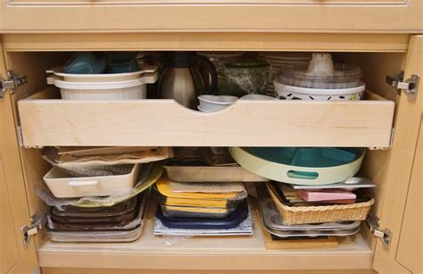 kitchen cabinet shelf installing pull out shelves in kitchen cabinets heartwork organizing tips for organizing your