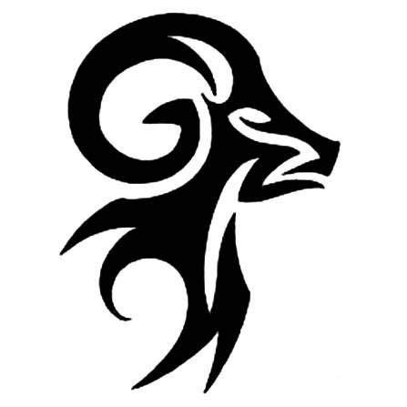 tribal ram stencil design tattoowoo tattoos