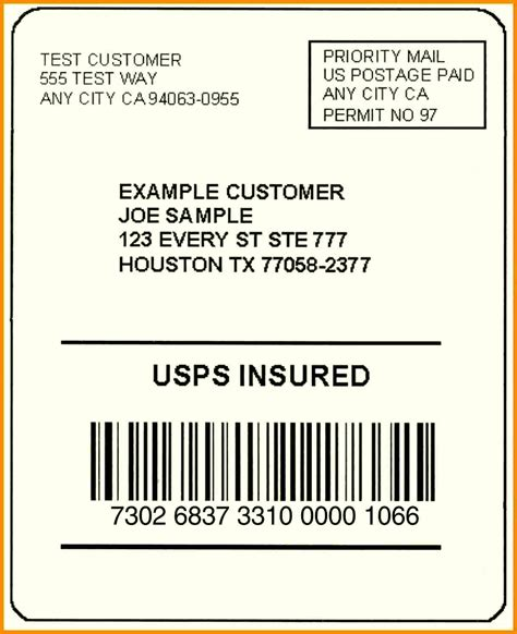 ups shipping label template free printable shipping label template