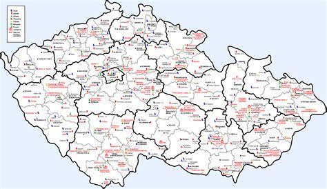 czechoslovakia map map of republic
