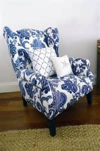Blue Chair Upholstery White Armchairs Foter