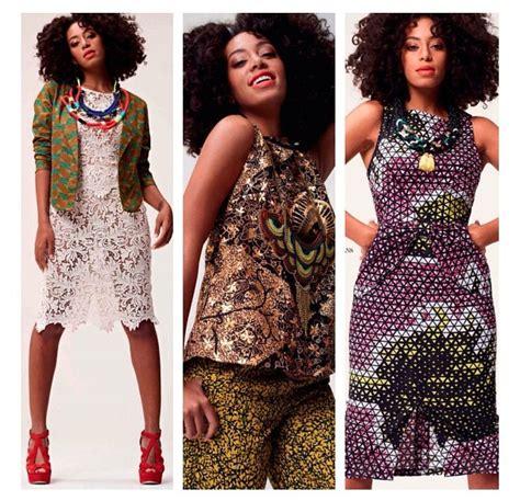 various ankarah solange knowles in various ankara print fabric outfits