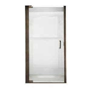 Frameless Pivot Shower Door Shop American Standard 31 1 8 In To 32 In Frameless Pivot Shower Door At Lowes