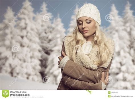 woman in winter clothing cold woman with winter clothes stock image image 35294841
