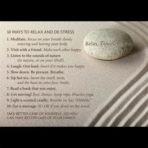 10 Best Ways To Relax 10 ways to relax and de stress