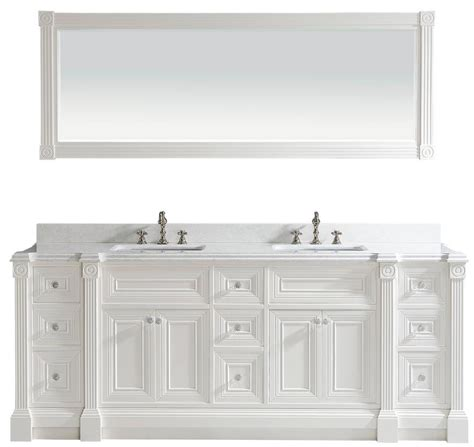 white bathroom vanity cabinet 84 inch white finish double bathroom vanity cabinet