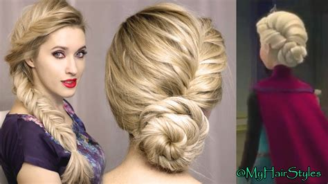 Frozen Hairstyle For Free by Frozen S Elsa Hairstyle Tutorial For Hair Updo