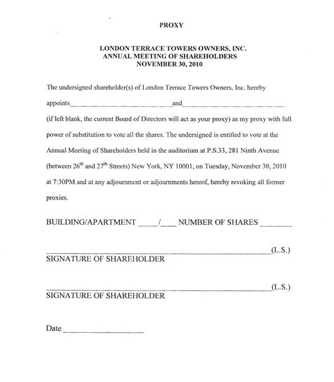 proxy letter template londonterrace just another site