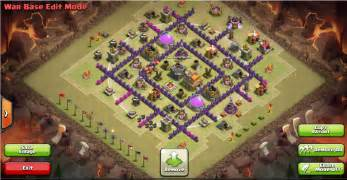 Clash of clans war base th7 clash of clans level 4 town hall attack