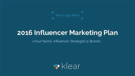 Influencer Marketing Plan Template Influencer Marketing Template