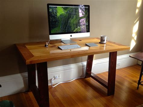 made industrial mill inspired reclaimed wood desk by