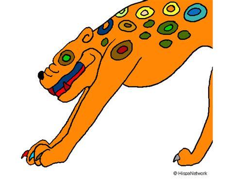 imagenes de jaguar para iluminar dibujo de yaguaret 233 maya pintado por fidel01 en dibujos