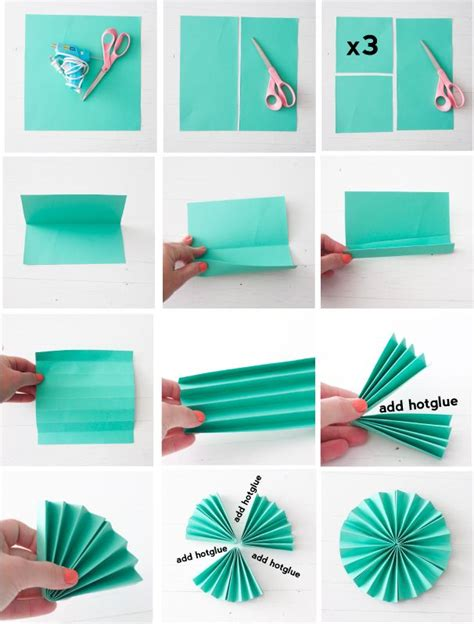 How To Make Decorations For Out Of Paper - best 25 paper fans ideas on diy