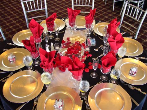 Gold Home Decor by Black With Red Table Design My Tucson Wedding