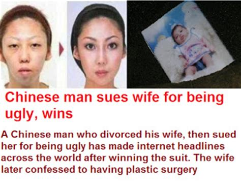 man sues wife over ugly kids accuracy in politics chinese man sues wife for being ugly