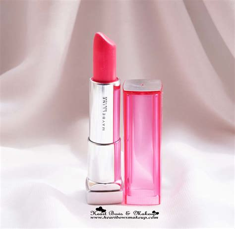 Lipstik Maybelline maybelline pink alert lipstick pow 4 review the best coral lipstick in india bows makeup