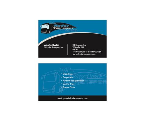 transport business cards templates free free business cards for transportation gallery card