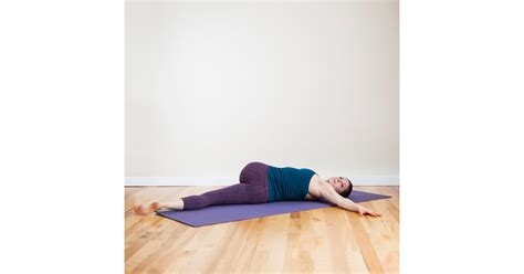 reclining twist reclining spinal twist no mat needed relaxing yoga