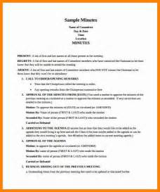 How To Type Minutes From A Meeting Template by Doc 728942 Sle Meeting Minutes Sle Of Minutes Of