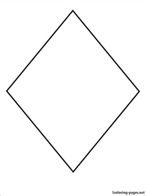 diamond coloring pages preschool free coloring pages of diamond shape