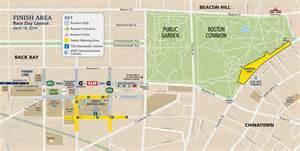 Boston Marathon Finish Line Map by Boston Marathon Gear Check Parking Motor Mart Garage
