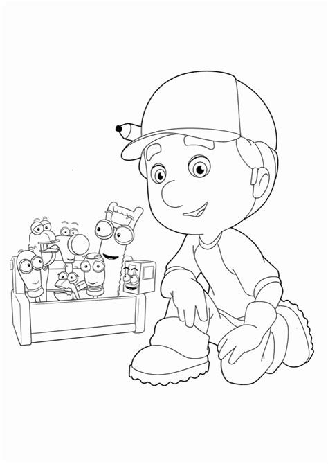 Coloring Pages For Everyone Handy Manny Handy Manny Coloring Pages