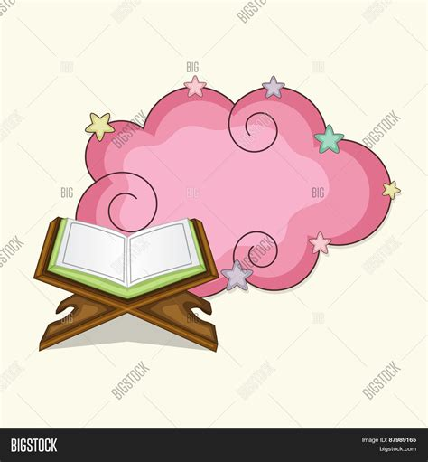 Setelan Muslim Syarii Pink open islamic holy book quran vector photo bigstock
