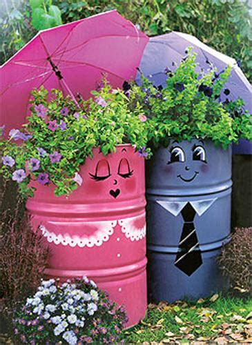 Recycling In The Garden Ideas Creative Handmade Garden Decorations 20 Recycling Ideas For Backyard Decorating