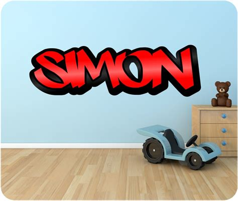 graffiti name on bedroom wall personalised graffiti name wall sticker kids transfer huge